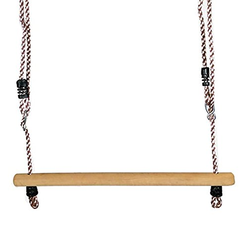 Trapez aus Holz, Holztrapez Ø35 mm 580 mm Lang, mit einstellbaren Seilen