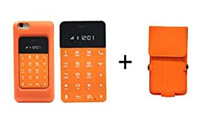 J Anica TalKase Mini Mobile Phone (Card Size), Connect & Sycn TalKase with iPhone, Android & Windows Phone via Bluetooth, Make & Receive Calls on TalKase, with Free iPhone 6 Case Orange