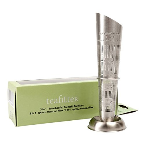 Edelstahl Teesieb Filterstick - Teeschaufel/-maß/-filter in Einem - Teefilter