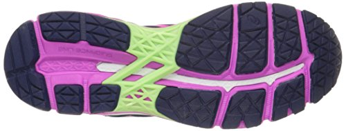 Asics Gel-Kayano 22 étroit Synthétique Chaussure de Course Indigo Blue-Pink Glow-Pistachio