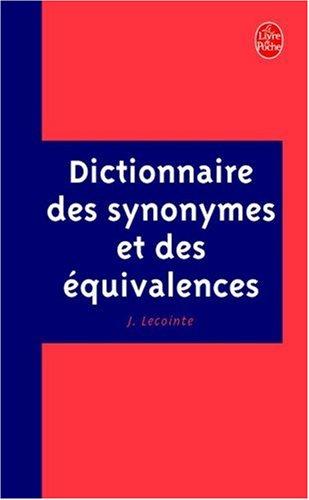 Dictionnaire des synonymes et des équivalences