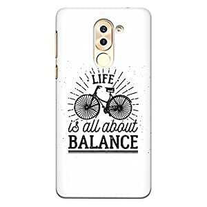 CrazyInk Premium 3D Back Cover for Honor 6X - Life is all about Balance