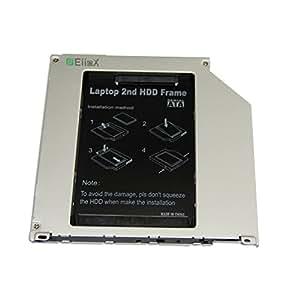 "EiioX 2.5"" 9.5mm SATA 2nd Hard Drive Caddy Tray for Apple Unibody MacBook / MacBook Pro 13 15 17"