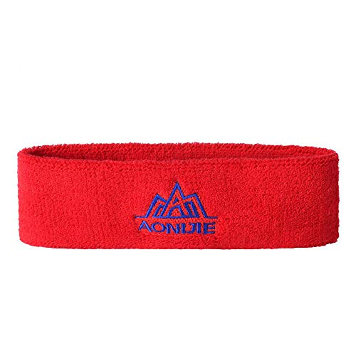 Outdooors Sport Headbrand High Elasticity Cotton Breathable Sweatband Sports Running Hair Head Band - Red