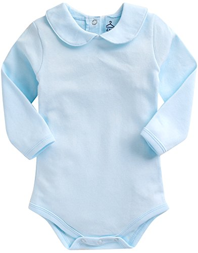 free-shippingvaenait-baby-0-24-months-100-cotton-sleepsuit-bodysuit-round-collar-blue-l