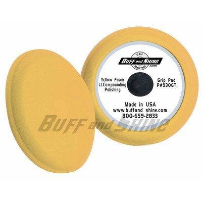 9 Contour Foam Pad Yellow by Buff And Shine (Shine Pads And Buff)