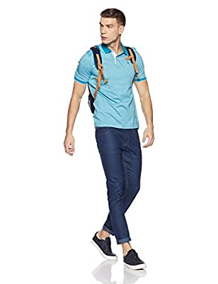 Louis Philippe Men's Striped Regular Fit Polo