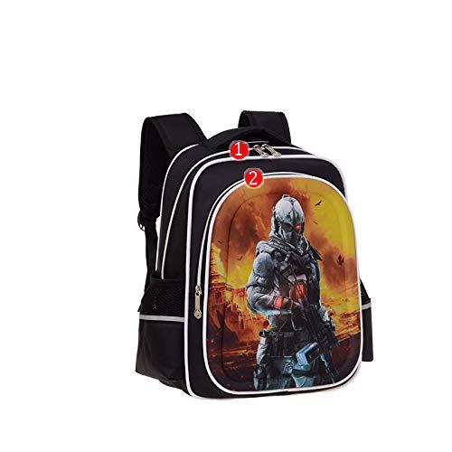 Kinder Schultasche - Grundschule Kinder Schultasche Junge Wasserdichter Rucksack Special Commander Größe 30 * 17 * 43 (Kleinkind Karierte Vans)
