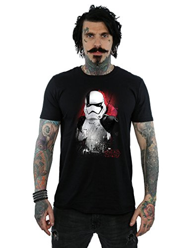 Star Wars Herren The Last Jedi Stormtrooper Brushed T-Shirt Schwarz