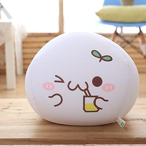 DIDIDD Schöne Ausdruck Paket Kissen Lange Schaumpartikel Kissen Geek Puppe Geburtstagsgeschenk,Getränke, 30Cm