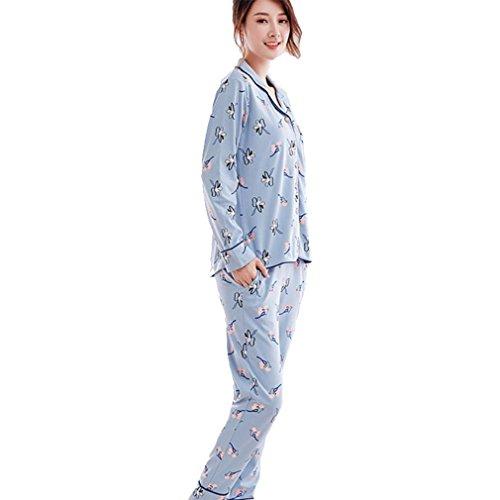 MOXIN Set di pigiama da donna, Top e Bottoni lunghi, Set da notte per indumenti da notte per indumenti da notte L
