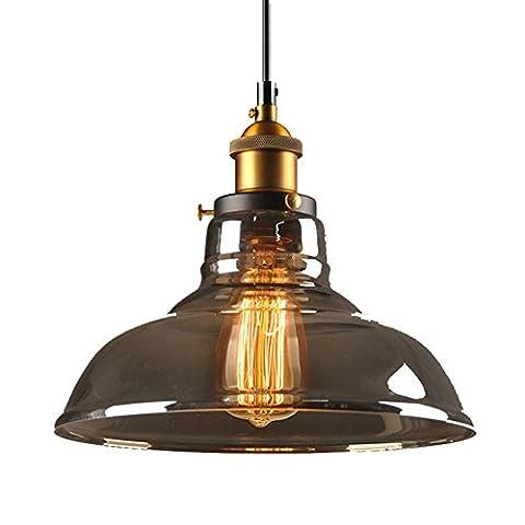 Vintage Lighting Industrial Style Smoke gray color Edison Light Glass Shade Ceiling Light Pendant Lamp