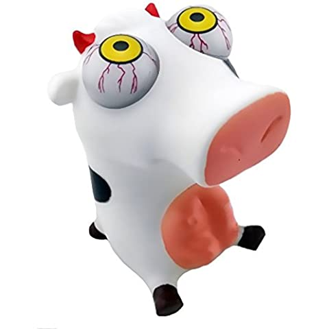 Pop Ojos mu?eca creativa de dibujos animados Toy Squeeze Stress Relief Ojos Doll Regalo de la mordaza (Long-Nariz del cerdo)