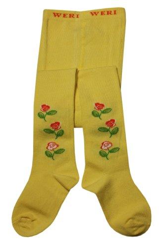 Weri Spezials Baby-Meadchen Kinderstrumpfhose in Vanille Gr. 92/98 (2-3 Jahre). Rosen - so fein! Zeartliche Blueten (Vanille Blüte)