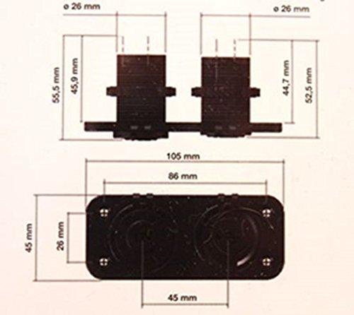 DOPPIA PRESA USB + PRESA ACCENDISIGARI DA INCASSO UNIVERSALE X AUTO E CAMION