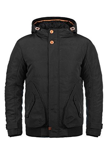 BLEND Polyus Herren Übergangsjacke Herrenjacke Jacke mit Kapuze, Größe:S, Farbe:Black (70155)