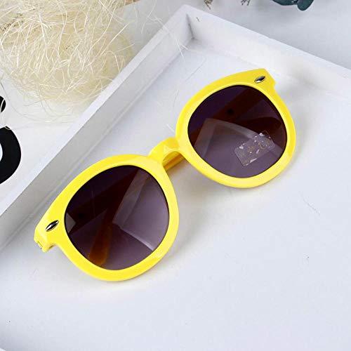 CYCY Kindersonnenbrillen Jungen und Mädchen Mode Sonnenbrillen Korea Persönlichkeit Kinder Baby Sonnenbrille Flut Weiß (Send Bags) @ Gelb (Send Bag + Tuch)