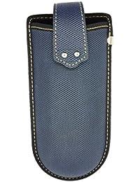 Clip de cinturón Funda para gafas con correa de velcro azul azul M