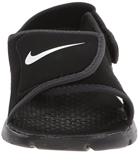 Nike Sunray Adjust 4 (Gs/Ps), Tongs Garçon, Rose, 3.5UK/23.0cm Noir/blanc/anthracite