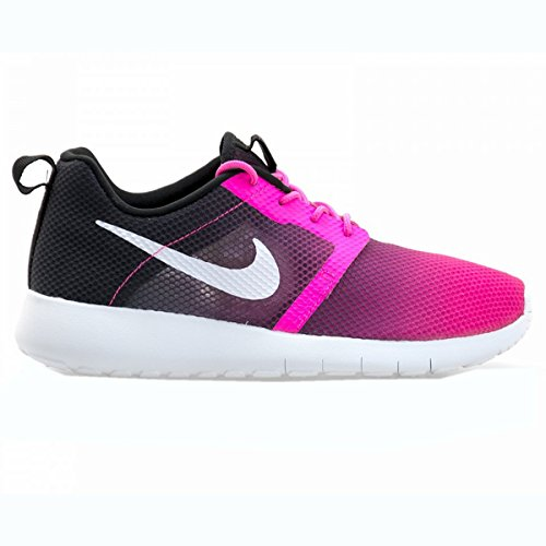 Nike Jr Rosherun Flight Weight Gs, Baskets Basses Mixte Enfant Rose - Rosa / Blanco