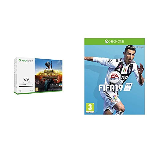 FIFA 19 + Xbox One S - Consola de 1 TB + Playerunknown's Battlegrounds