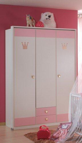Wimex Kleiderschrank/ Drehtürenschrank Cinderella, 2 Schubladen, (B/H/T) 139 x 199 x 58 cm, Weiß -