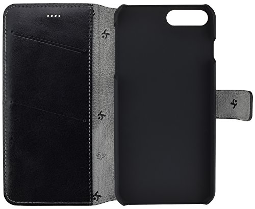 iPhone 7Plus | iPhone 7–Étui ordinateur portable style (slim fit) Étui en cuir Cuir Housse Coque Case Étui avec fonction support et compartiment carte) noir
