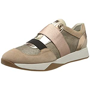 Geox Damen D SUZZIE D Slip On Sneaker, Gold (Dk Skin C8191), 41 EU