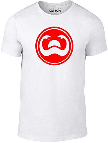 Reality Glitch Herren T-Shirt Tower of Serpents (Weiß, Mittel)