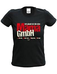 cooles T-Shirt Frauen Damen Motiv Ich glaub ich bin eine Mama GmbH Geschenk-idee, Muttertag, Weihnachten kurzarm Outfit, Kostüm Farbe: schwarz