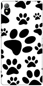 Snoogg Dog Stamps Designer Protective Back Case Cover For Sony Xperia Z3
