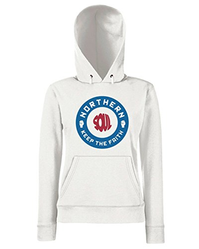 T-Shirtshock - Sweats a capuche Femme WC0523 Northern Soul 2 Blanc