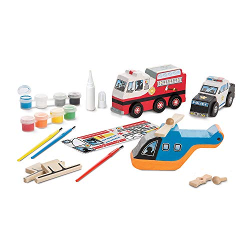 Produktbild Melissa & Doug DYO Rescue Vehicles Set by Melissa & Doug