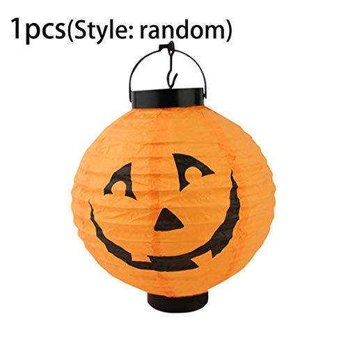 Kongqiabona Kürbis Papier Laternen Halloween Dekoration Lampen Ghost Spider Bat Skelett Licht Hängende Papierlaternen Urlaub Party Decor