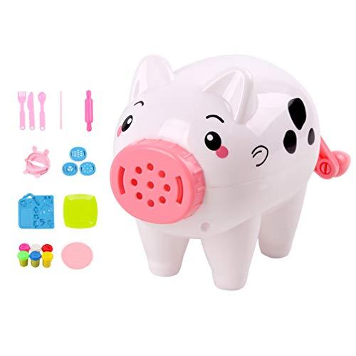 STOBOK farbige Ton Nudelmaschine handgemachte kreative Schweinform Nudeln Hersteller Maschine für Kinder - 21pcs