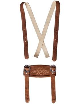 Klassische Hosenträger für Trachten Lederhosen Hosenträger H-Träger Rehbraun