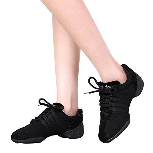 E Support™ Damen Funky Sneaker Dance Fitness Aerobic Gymnastik Sneaker Tanzsneaker Modernen Jazz Tanzschuh Dancesneaker Sportschuhe Schuh