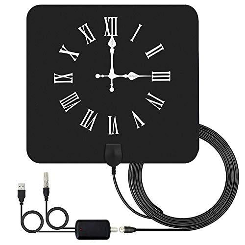 SuRose TV Antenne HD, High-Definition-Digital-TV-Antenne, Kompatibel mit 720p, 1080i, 1080p / ATSC, Wanduhr mit römischen 1080i 720p Tv