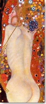 Digitaldruck / Poster Gustav Klimt - Wasserschlangen II - 30 x 68.1cm - Premiumqualität -...