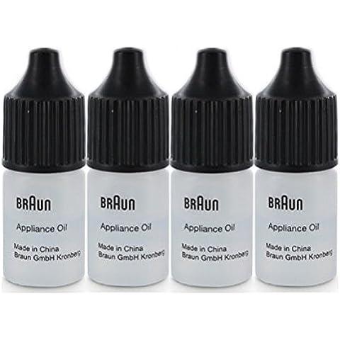 Bottiglietta olio lubrificante per rasoio elettrico Braun 7002000 (4 x bottiglietta 7ml) - Lama Lubrificante