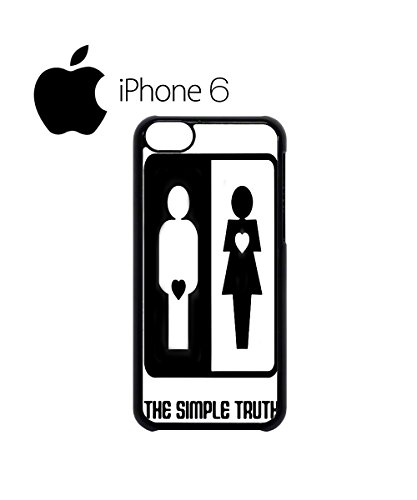 The Simple Truth Difference Man Woman Swag Mobile Phone Case Back Cover Hülle Weiß Schwarz for iPhone 6 White Weiß