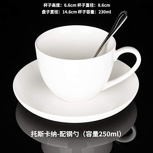 Keramik Tasse Kaffeetasse Löffel Teller Tasse Set einfache Keramik Continental Coffee Set Tasse