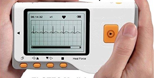 Tragbares EKG Mobiles Hand EKG Gerät - Beschreibung mit Deutschen Ausführungen - Vorhofflimmern - 30 Sek. oder Langzeit - mit neuester Analysesoftware