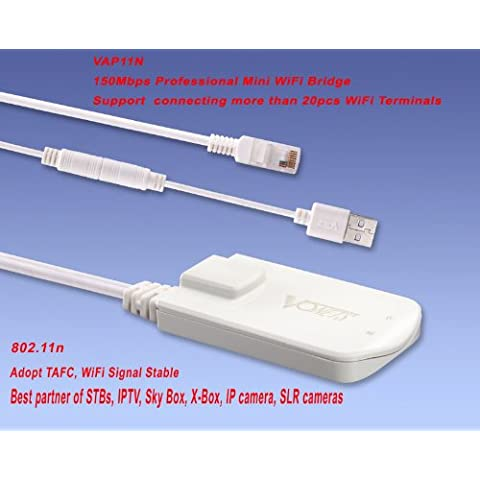 Kingzer Mini 150Mbps Mini WIFI puente repetidor VAP11N para IPTV Sky Box X-Box IP cámara