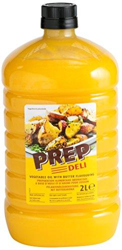 PREP DELI 2 Liter PET - Pflanzenöl mit naturidentischem Buttergeschmack Combidämpfer geeignet zum Braten & Backen Cholesterinfrei Laktosefrei Butteraroma