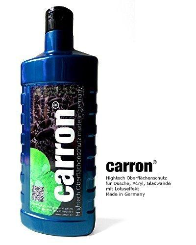 carron® Lotuseffekt Versiegelung Dusche Duschwand Glas Acryl gegen Kalk + Aktion: Microfaser-Poliertuch gratis dabei. Auch für Versiegelung von Badewannen. Politur erzeugt hauchdünne acrylharte Schutzschicht! 500 ml Preis pro Flasche : Hightech-Produkt made in Germany