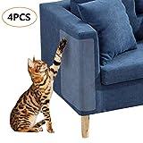 DearMentor Kratzschutz für Katzen, flexibel, transparent, Keine Nadeln, schützt Möbel vor Kratzern, Kratzern, Möbel, 18,5 x 15 cm, 4 Stück