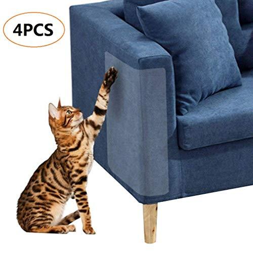4 Pezzi Cat Scratch Protector, Flessibile Trasparente Cat Scratch Guard Senza perni, mobili di Protezione da Cat Scratching Scratching Cats Furniture Defender, 18.5 x 5.9