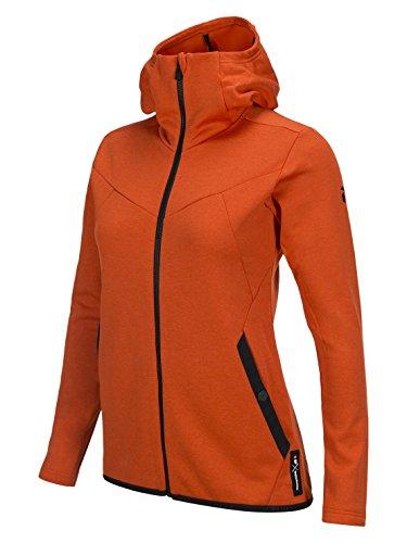 Peak Performance W Goldeck Zip Hood Orange Lava - L
