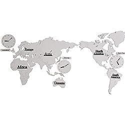 LIBINA - clock DIY 3D Wanduhren entwerfen toskanisches Schloss mit Hintergrund-Karten-Weltdekoration